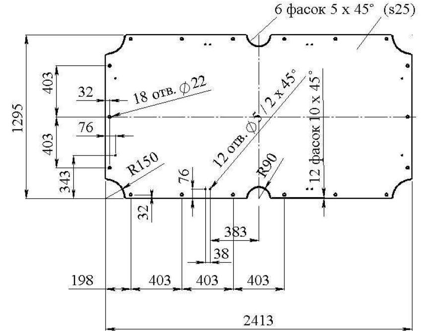 Бильярдный стол чертежи размеры из